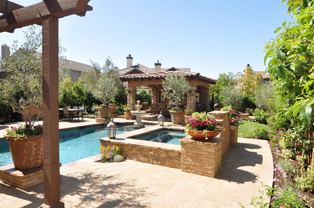 Diy Tuscan Backyard : For landscaping Tuscan style backyard landscaping pictures 9 11