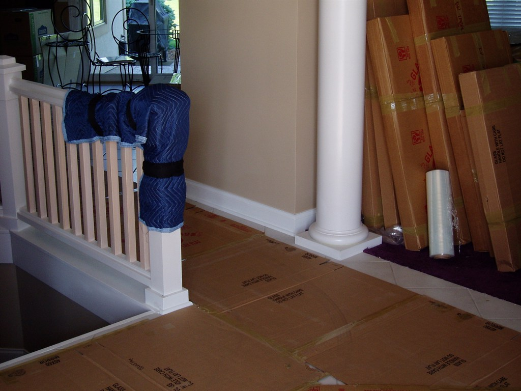 Floor and Banister Protection