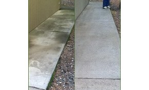 $150 for Driveway and /or Patio Cleaning!