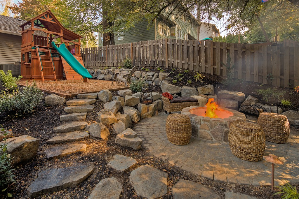 FIRE PIT, PLAY AREA