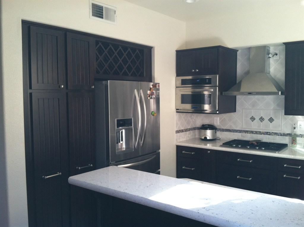 pantry cabinetry and wine rack
