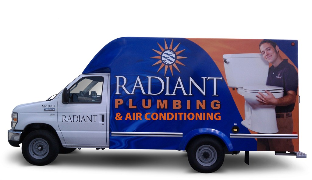 Our trucks come fully stocked to take care of your plumbing/ac needs.