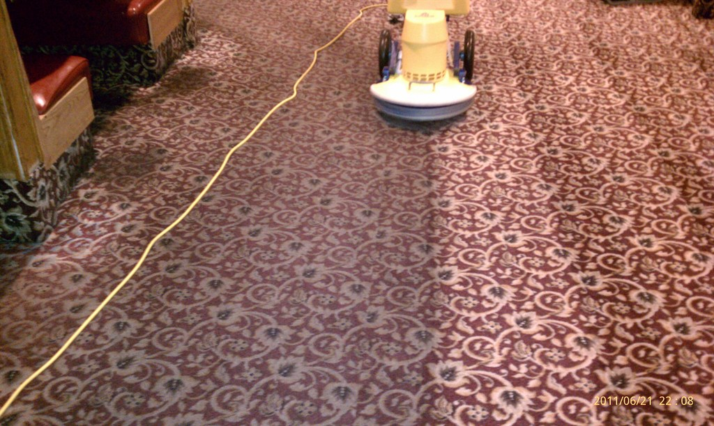 how to clean burned carpet