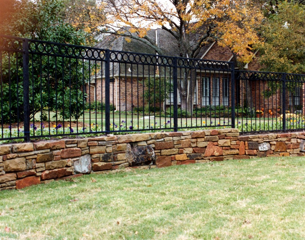 Stone Base Fence