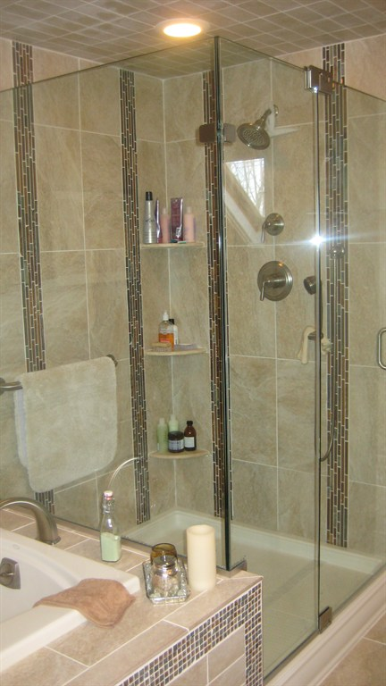 Custom Built Shower with Clear Enclosure