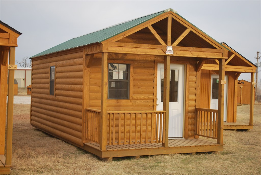 12 x 24 Open Porch Log Cabin