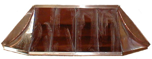 Copper Sweep Bay Window Roof