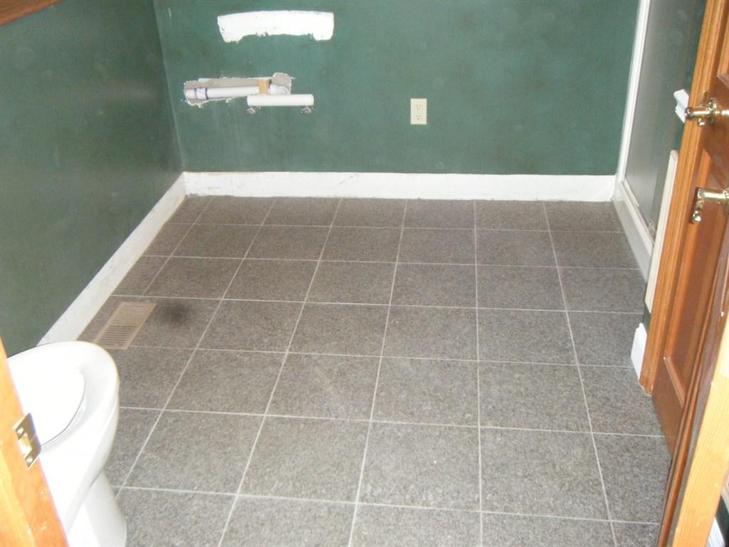 New granite floor tile