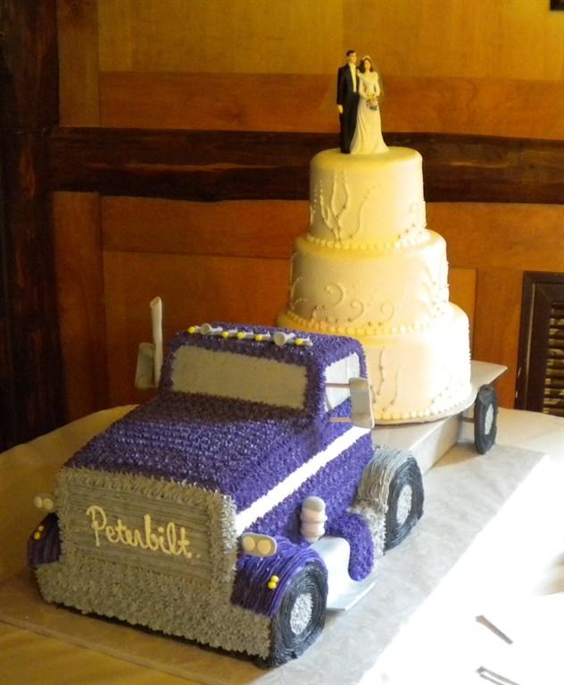 Semi Truck Wedding Cake Toppers