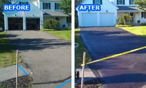 $293 for Driveway Asphalt Sealcoating or...