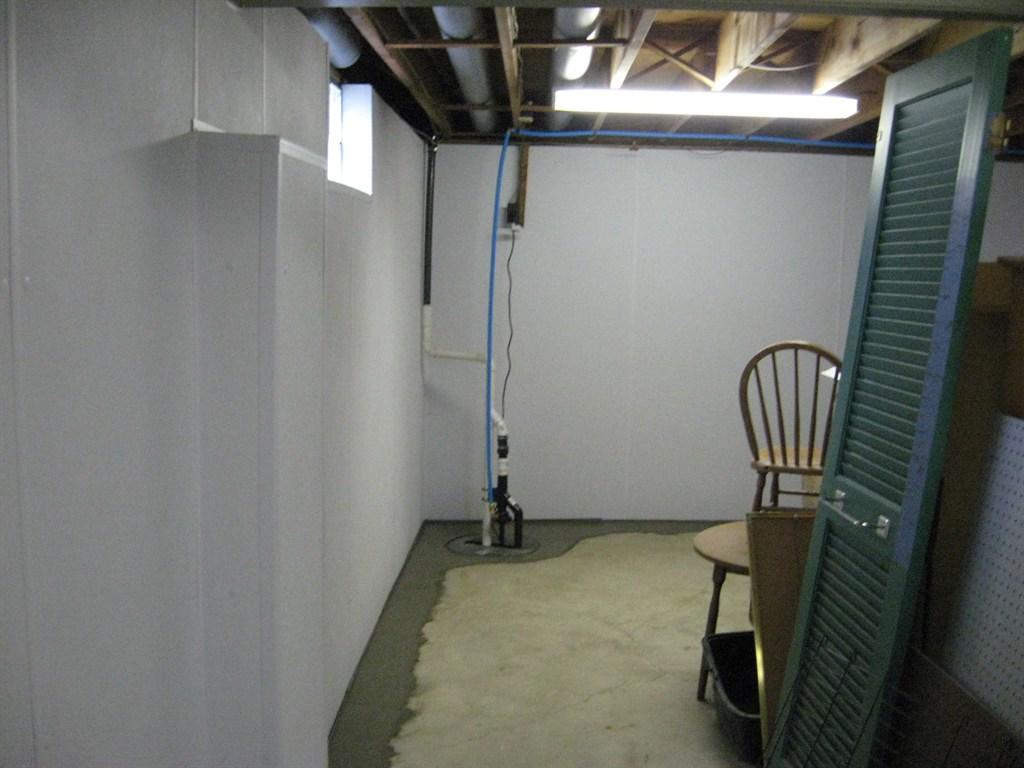 after waterproofing a basement