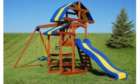 Wooden Swing Set Assembly Only $299.99