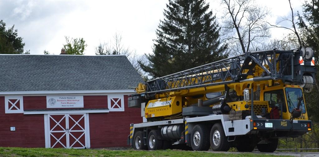 company-owned 202', 90 ton crane