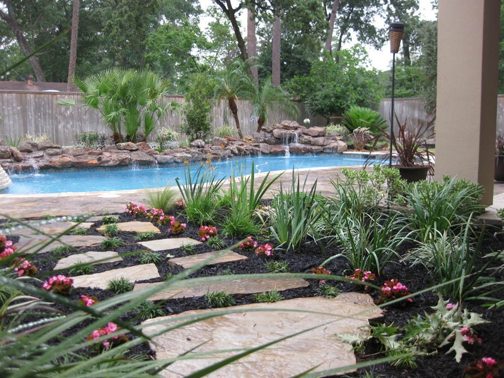 Pool Landscaping Houston Tx Images