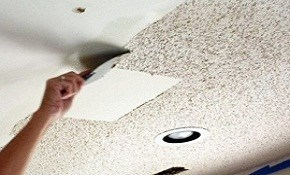$504 for Popcorn Ceiling Removal Plus Re-texturing