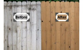 $480 for Wooden Fence Clean and Seal!