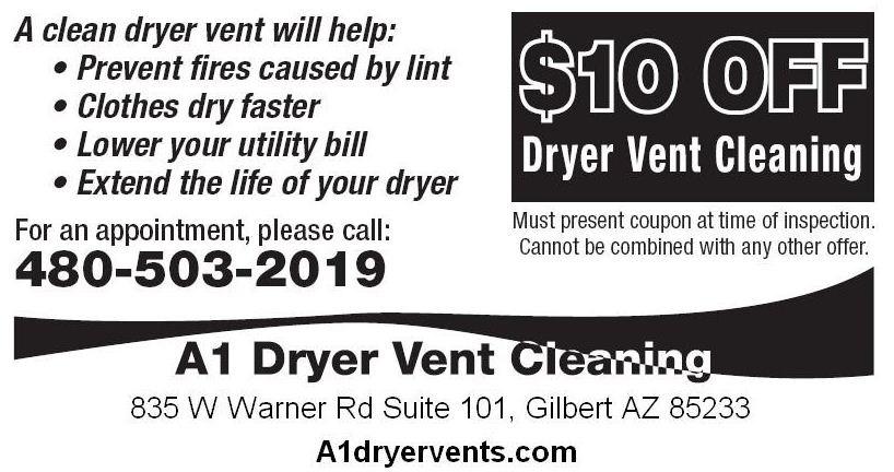 A1 Dryer Vent Cleaning Llc Gilbert Az 85233 Angies List