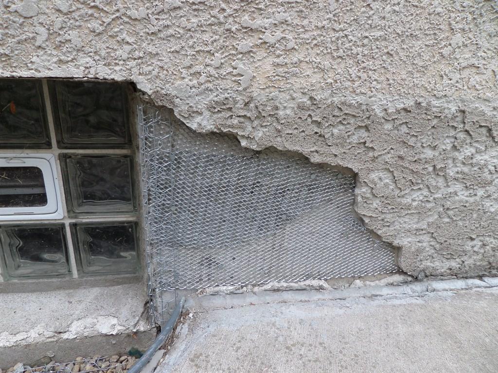 Cracked Foundation Before