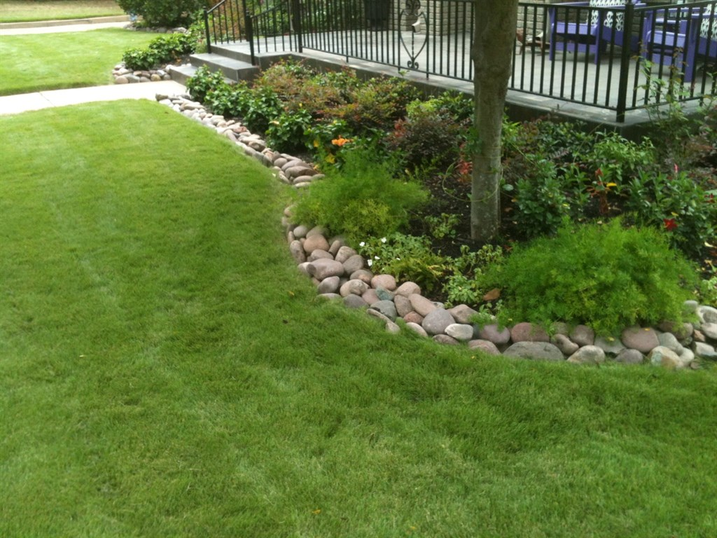 Flower Beds With Rock Borders Simple Hit Home Design Ideas