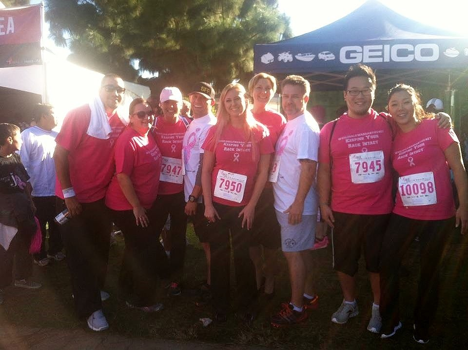 WholesaleWarranties.com Attends Komen Race for the Cure in 2012