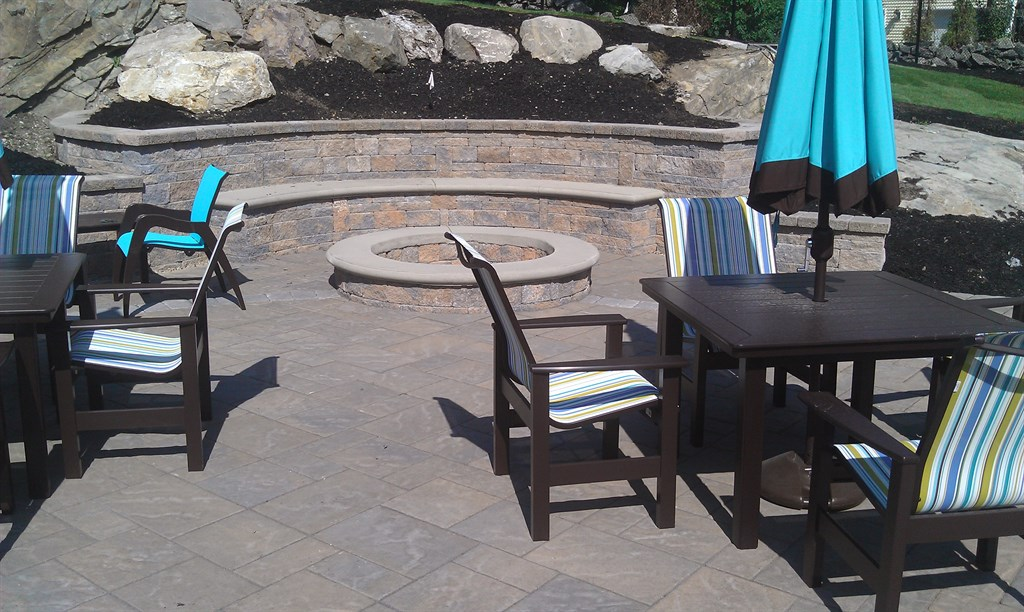 Patio-fire pit Install