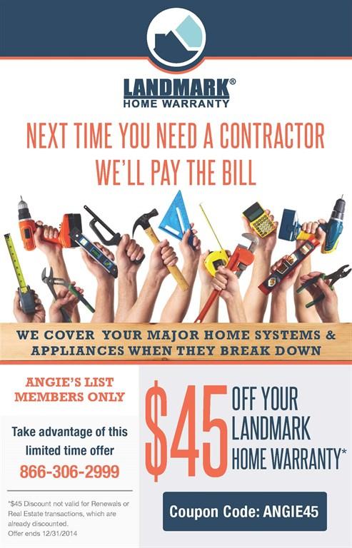 Landmark home warranty plano tx 75093 angies list for List of home warranty companies