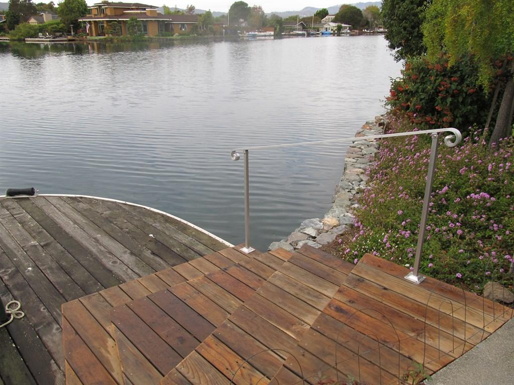 Aluminum Rail on a Dock