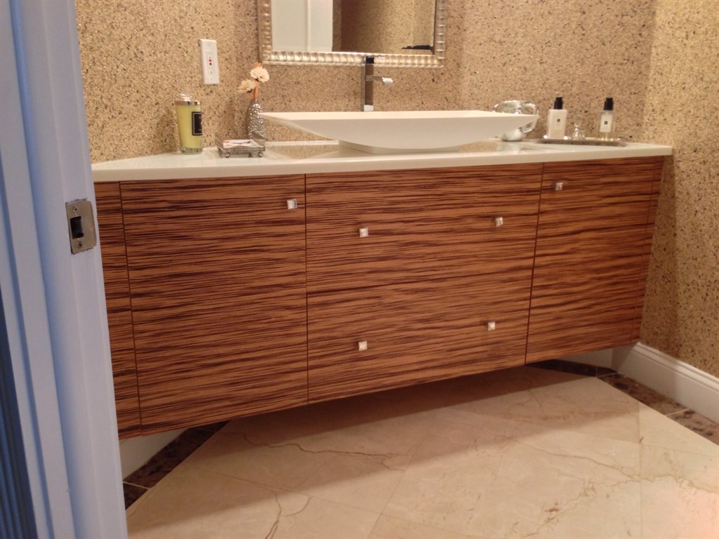Zebra Wood Veneer Floating Vanity. Zebra Wood Vanity  Promotional Zebra Wood Bathroom Vanity Buy