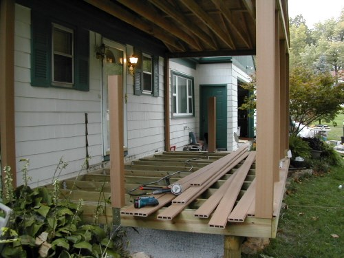 Front Porch in Progress