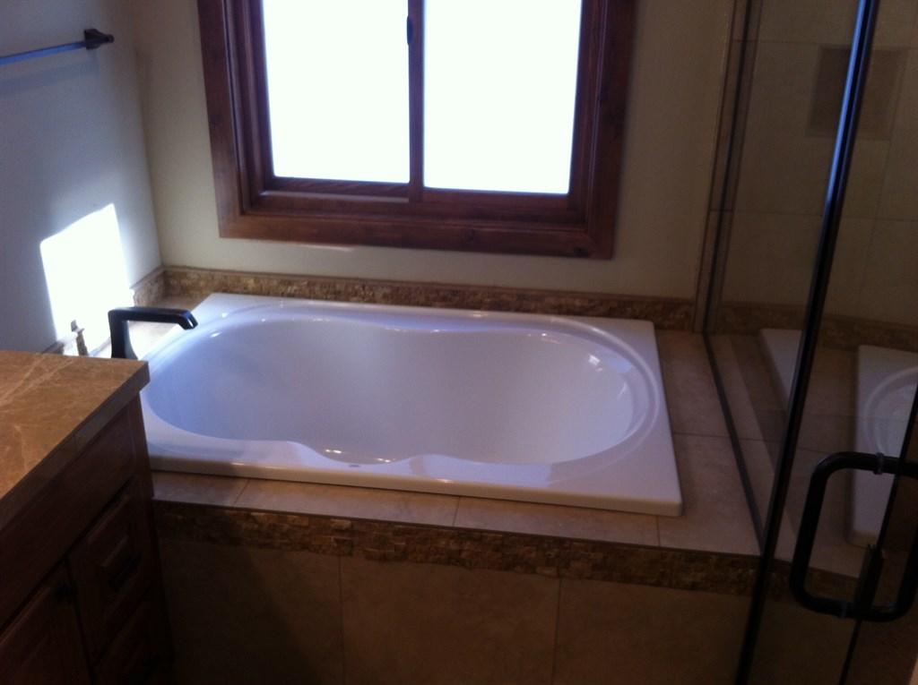Custom Shower/Tub Platform, and splash