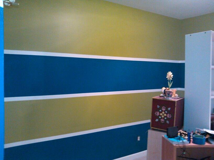 Custom Painted Stripes