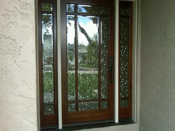 Front door window tint