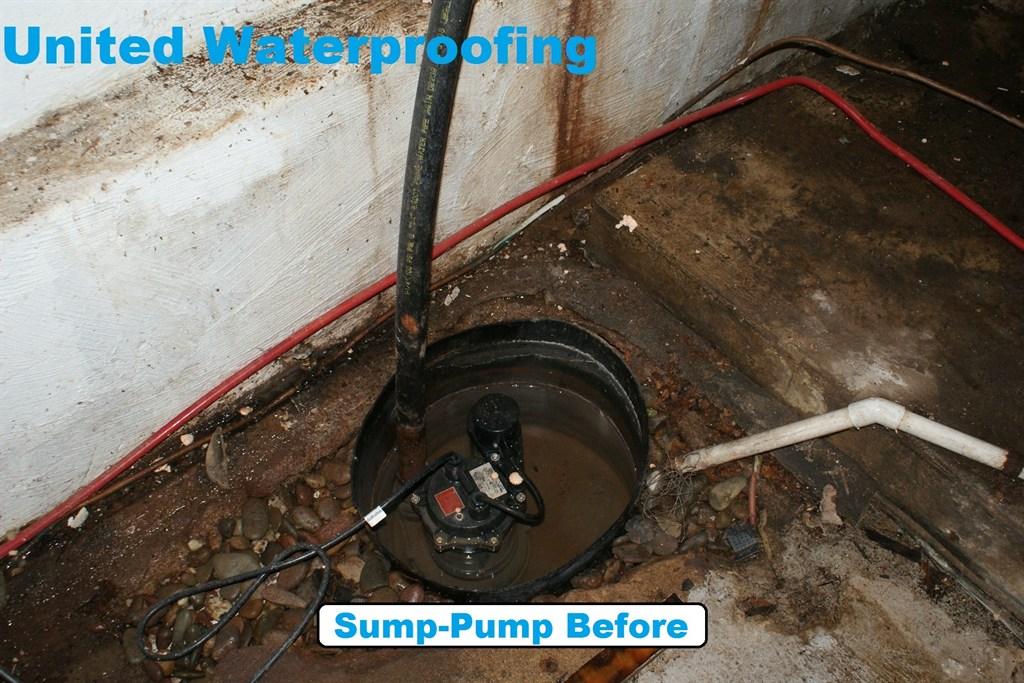 Sump-Pump Before