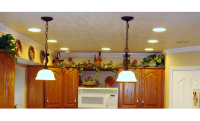 $402 for Four New Recessed Lights with Dimmer...