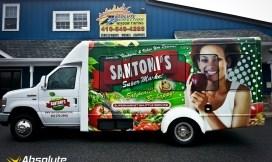 Santoni's Market Bus Wrap