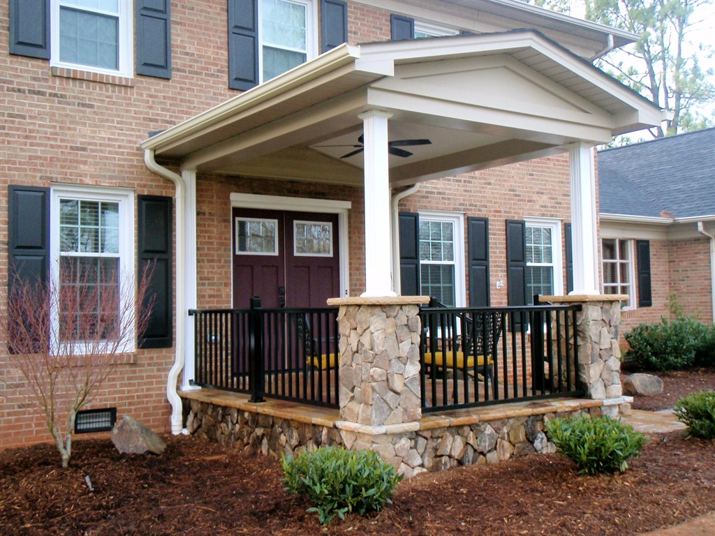 Outdoor living design co inc indian trail nc 28079 for Indian house portico design