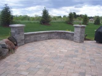 Patio with Unilock Product