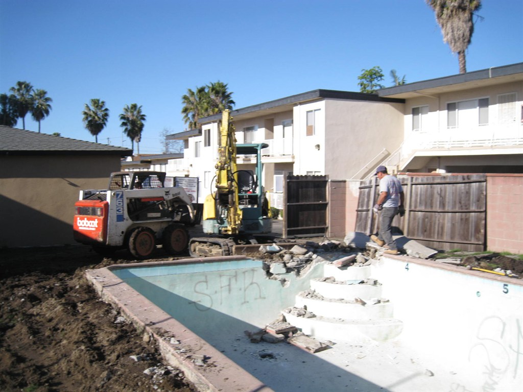 Deconstruction demolition disposal inc sherman oaks ca 91423 angies list for Swimming pool demolition los angeles