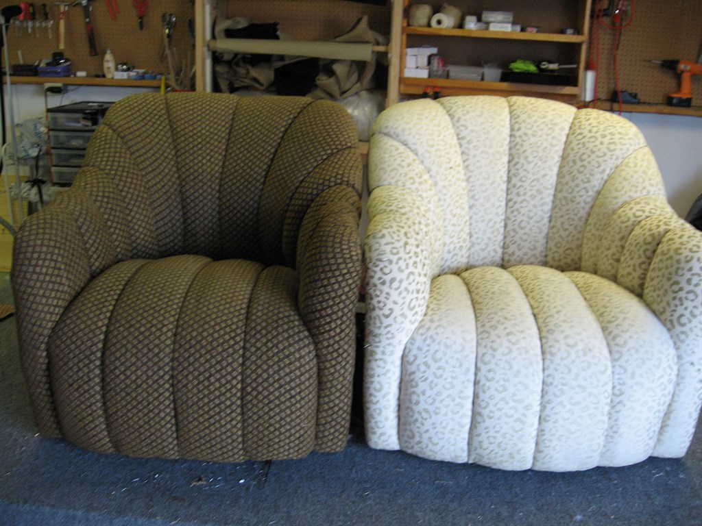 Scalloped chairs