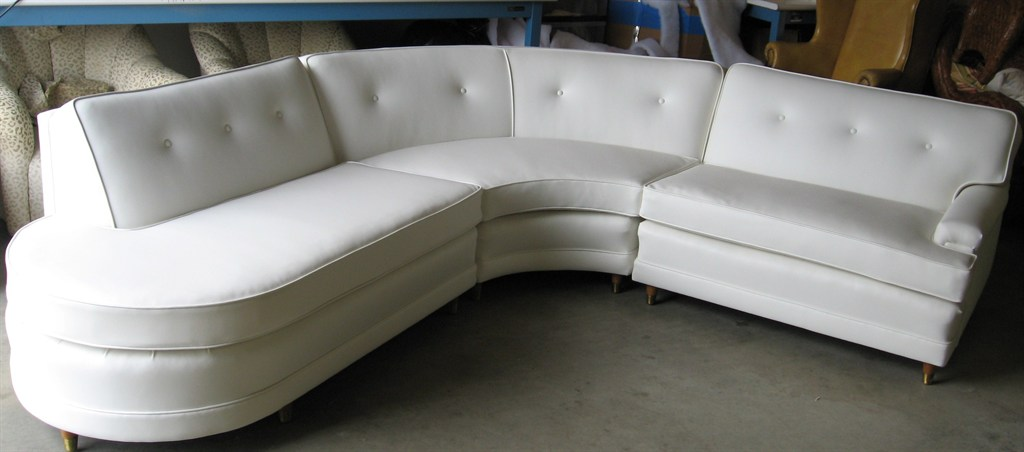 White recyled leather