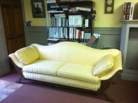 FJ yellow settee after