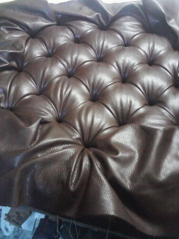 Leather Button Tuft