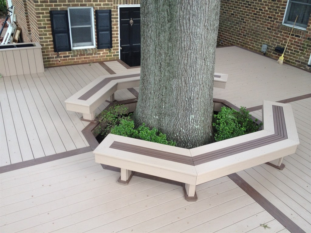Amazing photo of How To Build A Wrap Around Tree Bench Pictures to pin on Pinterest with #47663D color and 1024x768 pixels