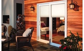 $2,400 White Pella Double Sliding Patio Door...