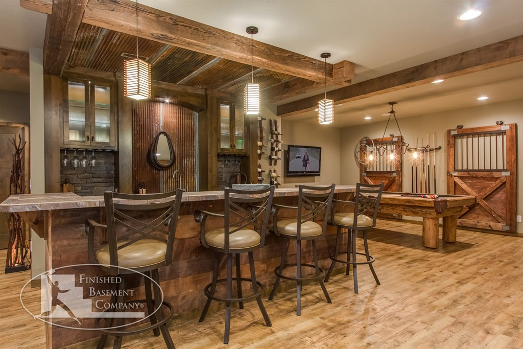 Finished basement company saint louis park mn 55416 for Rustic finished basement