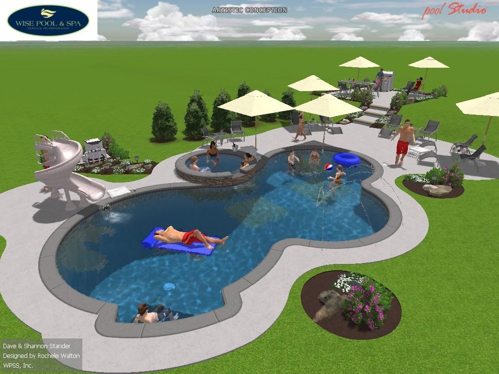 Custom Swimming Pool in Owings, MD