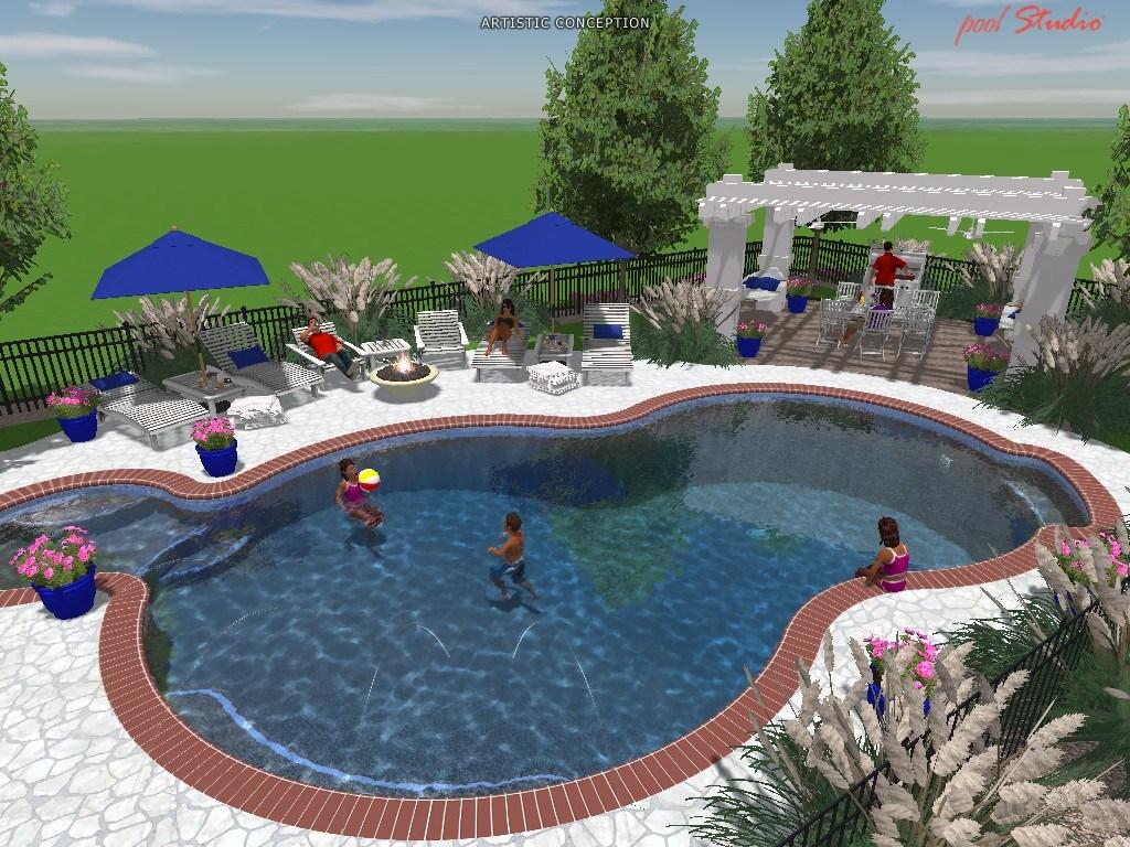 Custom Swimming Pool in Hughesville, MD