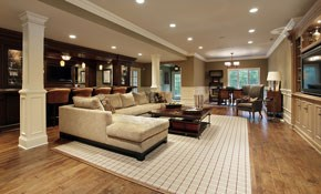 $395 for 4 New Recessed Lights with a Dimmer...