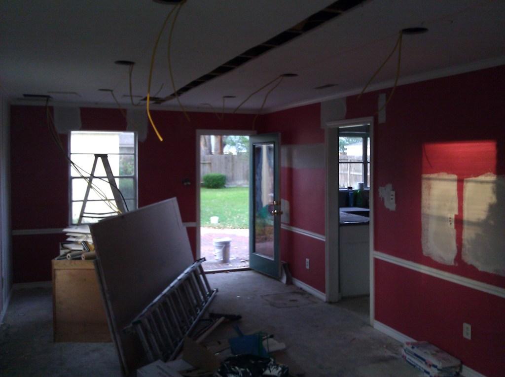 Living Room Soffit Damage