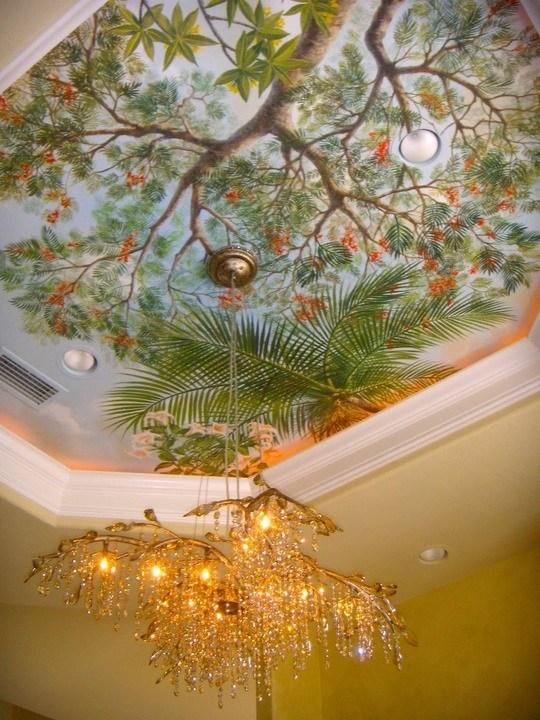 Tropical Sky Ceiling Mural
